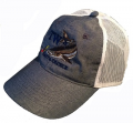 Cobia Heather Blue and White Mesh Cap