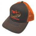 Cobia Charcoal with Neon Orange Mesh Cap