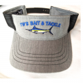 Marlin Visor Heather Gray with Black Overlay